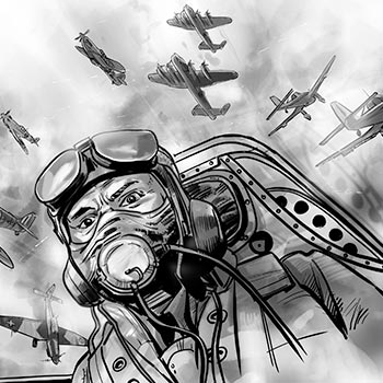 preview battle britain medal illustration pilot