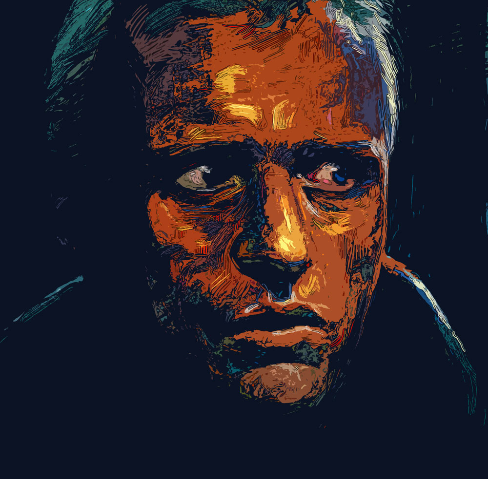 Blade Runner Roy Batty Illustration
